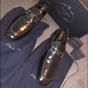 Prada Plaque Leather Loafer